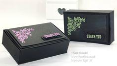 Heat Embossed Stylish Box Tutorial using Stampin' Up! supplies (+playlist)