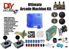 Kit comes with nearly everything you need to build your own Arcade Machine, Just add Arcade Cabinet and Screen. For the screen a old computer monitor is just fine. Then you can start playing Double Dragon and other classics.