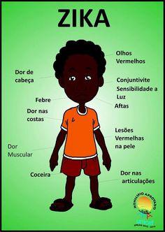 Cartaz Sintomas do ZIKA