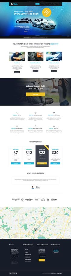 CarWash WordPress Theme has professional modern design dedicated to car wash or auto repair service. This super functional theme best suitable for auto mechanics, #auto painting service or any kind of #websites related to #vehicles maintenance. #carwash #WPTemplate
