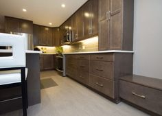 Vital kitchen had a U-shaped design that cut off half the room. After our home renovation, the kitchen doubled in size and usable space Kitchen Renovations, Home Renovation, Kitchen Cabinets, Construction, Room, Design, Home Decor, Building, Bedroom