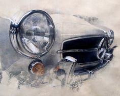 car headlight features looks like either watercolour or paint eitherway it looks really enhanced and detailed