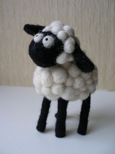 Needle felting - sheep
