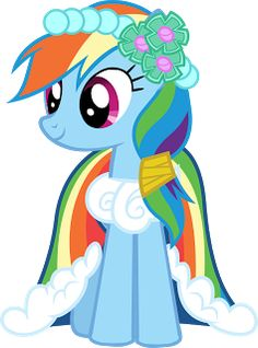 Image - Canterlot Castle Rainbow Dash - My Little Pony . Rainbow Dash, Over The Rainbow, Rainbow Wedding Dress, My Little Pony Characters, Mlp Characters, Minecraft Pixel Art, Minecraft Skins, Minecraft Buildings, Drawing Lessons For Kids