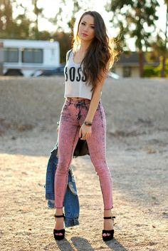 40 Cool And Calm High Waisted Skinny Jeans Outfits - Stylishwife Fashion 2017, Look Fashion, New Fashion, Womens Fashion, Fashion Trends, Fashion Story, Petite Fashion, Fashion Bloggers, Curvy Fashion