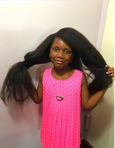 Click the picture for the Ultimate Guide to Growing Waist Length Natural Hair #naturalhair #growtoddlerhair #waistlength #naturalhairkids #growhair #grownaturalhair