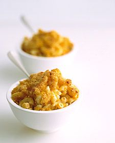 """Macaroni and Cheese with Butternut Squash - The ricotta and mashed squash give this familiar dish its creaminess.  I won't lie - I doubled the cheddar cheese and added a little bit more ricotta, and the result was delicious!!  It does take about two hours total - so this isn't a dish to """"throw together"""" on a weeknight!"""