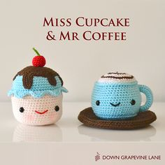 Down Grapevine Lane: Miss Cupcake & Mr Coffee | Homespun giveaway