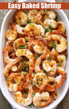 Healthy Meals A quick, tasty recipe for baked shrimp with butter, garlic and Parmesan. via - A quick, tasty recipe for baked shrimp with butter, garlic and Parmesan. Baked shrimp are the ultimate healthy fast food - they are ready in ten minutes! Fast Healthy Meals, Healthy Food Blogs, Healthy Baking, Easy Meals, Healthy Recipes, Dinner Healthy, Quick Recipes, Dessert Healthy, Butter