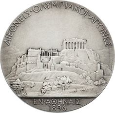 Miscellaneous Collectibles:General, 1896 Athens Summer Olympics First Place Silver Medal. Estilo Art Deco, Modern Games, Coin Art, Classical Art, Summer Olympics, Coin Collecting, Olympic Games, Athens, Coins