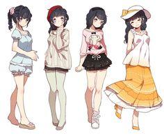 miiia (@mialoveless1) | Twitter Character Design Cartoon, Character Design References, Character Design Inspiration, Chica Anime Manga, Manga Girl, Anime Art, Character Concept, Character Art, Chibi