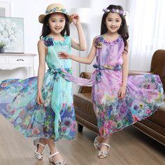 #aliexpress, #fashion, #outfit, #apparel, #shoes Child, #mother, #of, #<font><b>women</b></font>, #2016, #Kids, #Girls, #<font><b>summer</b></font>, #floral, #dress, #children, #hanging, #skirts, #the, #wind http://s.click.aliexpress.com/e/6YniiiyF2
