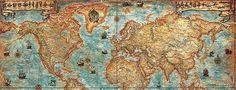 Old Maps or Antique Maps Vintage Maps, Antique Maps, Old Maps, Map Art, Legends, Paintings, Google Search, Antiques, Inspiration