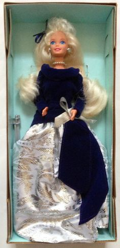 Barbie Special Edition Winter Velvet Caucasian In A Series Avon Fashion Doll