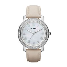 FOSSIL® Watch Styles Leather Watches:Women Emma Leather Watch – Bone ES3189