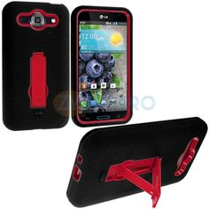 Color Hybrid Hard Soft Heavy Duty Case Cover Stand for LG Optimus G Pro E980 | eBay