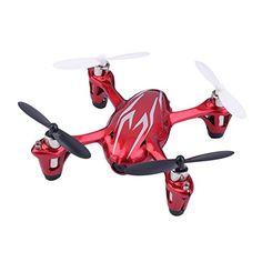 Water  Wood Hubsan X4 H107C 24G 4CH RC Quadcopter with 03MP Camera Gyro Drone Silver  Red *** Visit the image link more details.