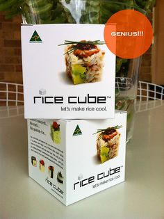 rice cube..make your own sushi squares at home!