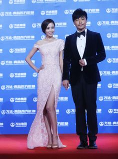 "Chinese actress Tong Liya 佟丽娅 wearing zhangjingjing HC 2014 S/S, attended the red carpet launch of ""wanda Group-Qingdao Oriental movie Metropolis ""(万达-青岛东方影都) Qingdao, Chinese Actress, Red Carpet, Oriental, Product Launch, Celebrity, Movie, Actresses, Group"