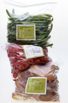 Organize your freezer cooking with these free printable labels from Martha.