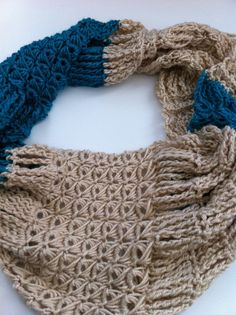 Broomstick Lace #Crochet Infinity Scarf Free Pattern