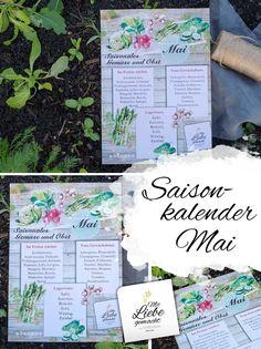 Saisonkalender Mai – frisches, heimisches Obst und Gemüse Gratis Download, Kraut, Mai, Journal, Blog, Purple Cabbage, Natural Life, Fresh Fruits And Vegetables, Lettuce