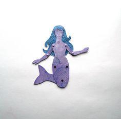 Mermaid Paper Doll Purple mermaid Doll Mermaid by JuliaPeculiar