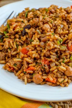 Slimming Eats Syn Free Spicy Beef, Beans and Rice - gluten free, dairy free, Slimming World and Weight Watchers friendly quick diet dairy free Healthy Eating Recipes, Diet Recipes, Cooking Recipes, Healthy Food, Tasty Meals, Healthy Meals, Minced Beef Recipes, Beef Mince Recipes, Actifry Recipes
