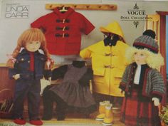18 inch Doll Clothes Pattern, Linda Carr, Vogue Craft 8556, Coat Hat Boots Jacket Jeans Sweater Jumper Shirt Tights Skirt by CatBazaar on Etsy
