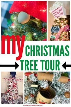 christmas tree tour pin Christmas Mantels, Christmas Tree Themes, All Things Christmas, Christmas Wreaths, Christmas Bulbs, Christmas Crafts, Holiday Decor, Things To Think About, Diy Projects