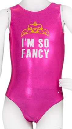 Adorable leotard am I right!!! This would be a good one to wear to practice!