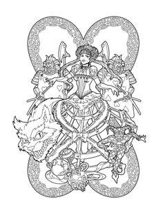 Red Queen of Wonderland lines by deviantAshtareth.deviantart.com on @deviantART