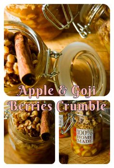 """What is better than sweet treats? … Healthy GUILT-FREE treats!! Then you may take this """"Apple and Goji berries crumble"""" …"""