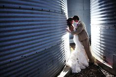 this is too cute! Grain Bins getting married on the farm