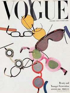 Vogue August 1956 http://www.sleepingnakedafter40.com loves eye glass fashion