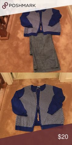Old navy cardigan Flash sale ⚡️ Blue and grey checkered  cardigan nwot  just tried on Old Navy Sweaters Cardigans
