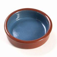 "Arcata, Round Dish, Blue/Natural, 5 oz, 4"" dia., Terracotta"