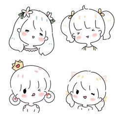 Save = fl me <*~*> Cute Little Drawings, Mini Drawings, Cute Easy Drawings, Cute Cartoon Drawings, Cartoon Art Styles, Kawaii Drawings, Doodle Drawings, Kawaii Doodles, Cute Doodles