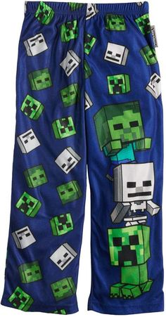 f236bd129 Boys 4-16 Minecraft Creeper Loungepants Lounge Pants, Creepers, How To Play  Minecraft