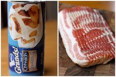 Winning - Bacon Cinnamon Rolls :D Bacon Cinnamon Rolls, Pillsbury Cinnamon Rolls, Cinnabon Cinnamon Rolls, Bacon Roll, Bacon Bacon, What's For Breakfast, Breakfast Recipes, Great Recipes, Favorite Recipes