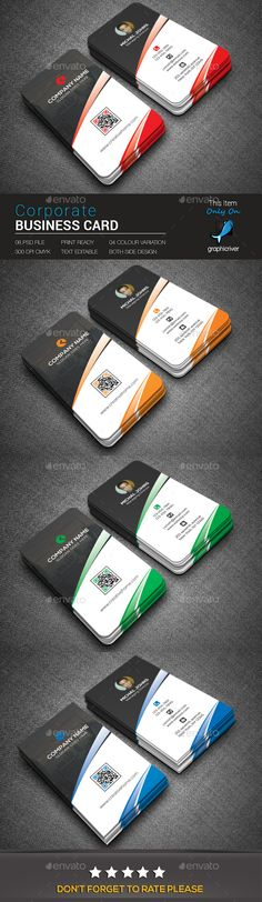 Corporate Business Card - Business Cards Print Templates Download here : https://graphicriver.net/item/corporate-business-card/19039726?s_rank=202&ref=Al-fatih