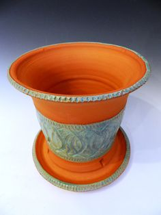 Textured indoor/outdoor terracotta planter by MarkCampbellCeramics, $35.00