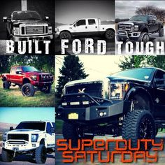 Lifted Fords. Truck YEAH