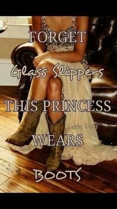 Forget the glass slippers this princess wears boots