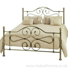 The Florence traditional antique brass bed frame offers a classic style at an affordable price. The beautiful scroll design in both head and foot end offer a classical feel to this bed frame. Detailed mouldings and decorative feet and finials really show the quality of this product.