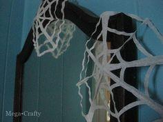 coffee filter spider webs & garland