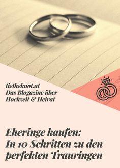 Wir verraten, was ihr bei der Wahl der Eheringe beachten müsst und haben die 10 wichtigsten Schritte zusammengefasst. Wedding Rings, Engagement Rings, Jewelry, Wedding, Enagement Rings, Jewlery, Jewerly, Schmuck, Jewels