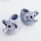 Ravelry: Ellie The Elephant Baby Booties pattern by Olivia Kent