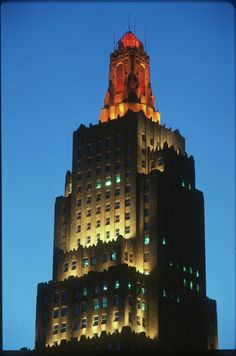 Power & Light Building in Kansas City, Mo ~ I loved to watch it change colors when I was little