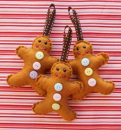 Felted Gingerbread men